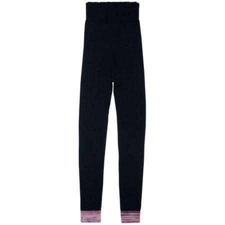 Kids paade mode seamless knit leggings - black