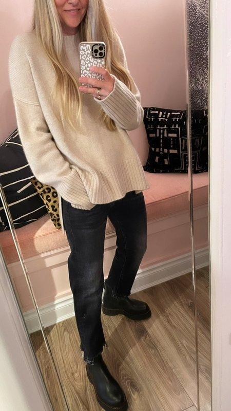 Doffer Boys Chunky Crew Sweater - Oatmeal