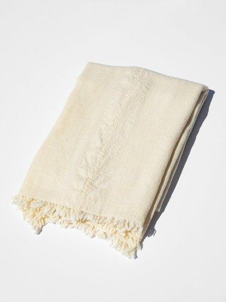 shokino khadi wool blanket - natural