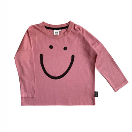 Kids LITTLE MAN HAPPY Smile Long Sleeve Shirt - Wild Rose