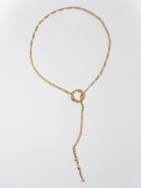 FARIS Lava Lariat necklace - Bronze