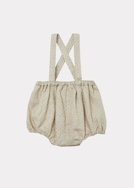 Kids Caramel Pare Baby Romper - Cream Dotty