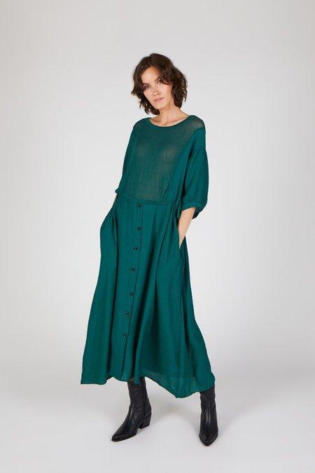"""INTENTIONALLY __________."" DEW Dress - green"