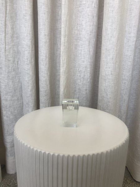 Vintage SMALL GLASS BLOCK VASE