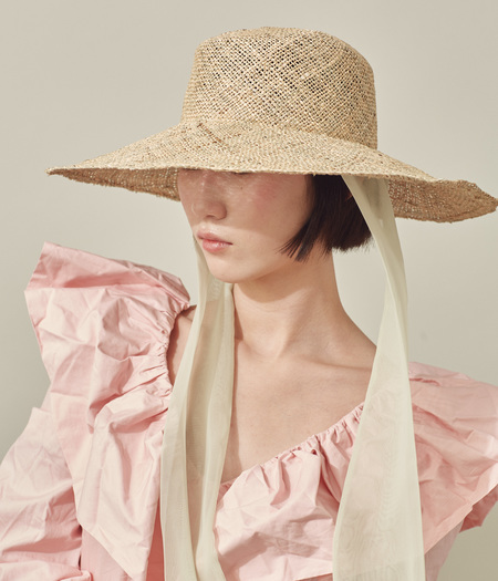 Clyde Neck Scarf  Pearl Hat - Seagrass Straw
