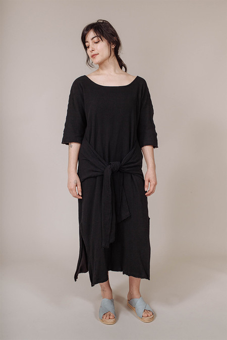 Miranda Bennett Waist Dress in Black