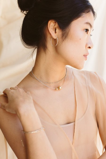 abacus row Mimas Necklace - Oyster