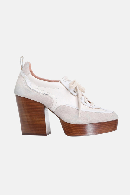 Women's Zimmermann Platform Sneaker Shoes - Bone Multi