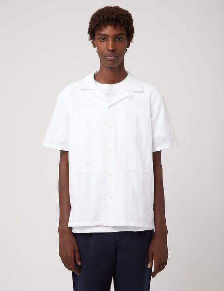 Bhode Revere Collar Safari Shirt - Ecru