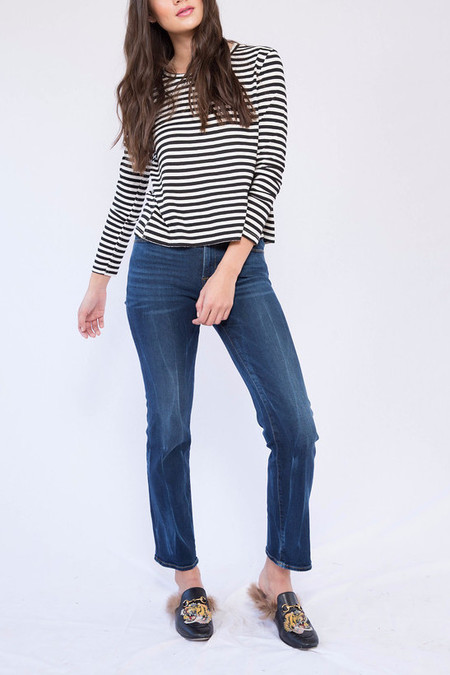 FRAME Denim Frame Le High Straight in Saunders