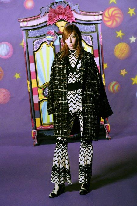 Anna Sui Wavy Vibe Knit Vest - Black