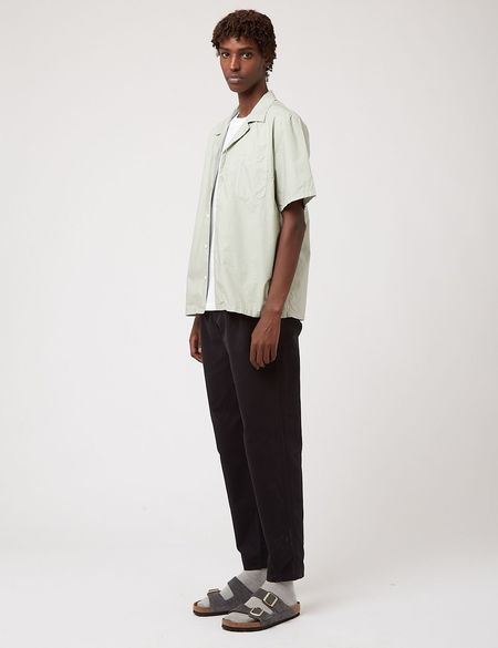 Bhode Revere  Italian Poplin Collar Shirt - Green
