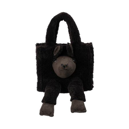 Doublet Alpaca Wool Bag - Black