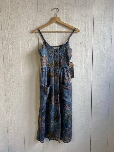 Conrado Elysha Buttonfront Dress - Teal Print