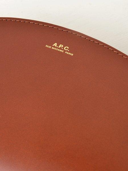 A.P.C. Sac Demi Lune Mini  Bag - CAD NOISETTE