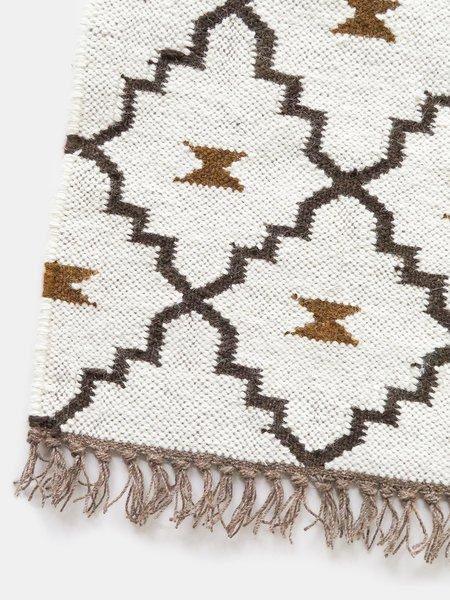 vimla jaipur zanjeer wool + jute rug - natural