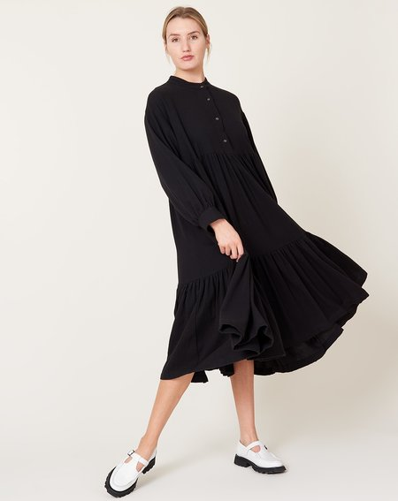 Black Crane Tent Dress - Black
