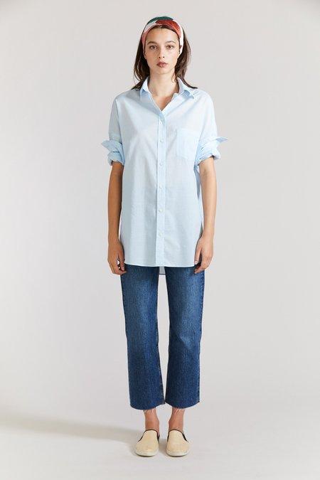 Laing Oversized Boyfriend Shirt - Ice Blue