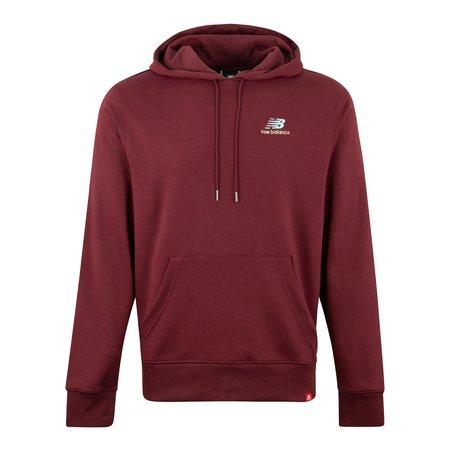 New Balance Essentials Embroidered Hood sweatshirt - Burgundy