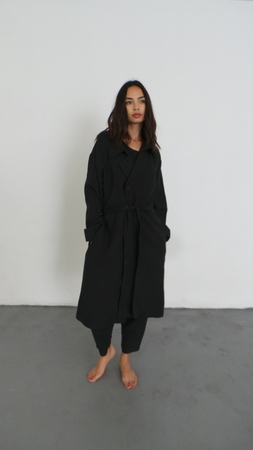 ILANA KOHN LISA TRENCH -FADED BLACK