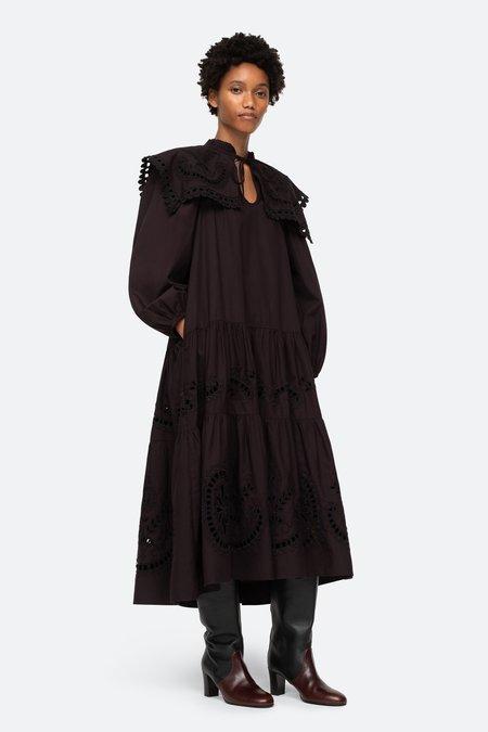 Sea NY Santos L/S Dress - Black/White