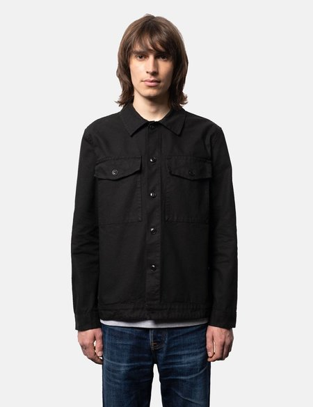 Nudie Jeans Colin Canvas Overshirt - Black