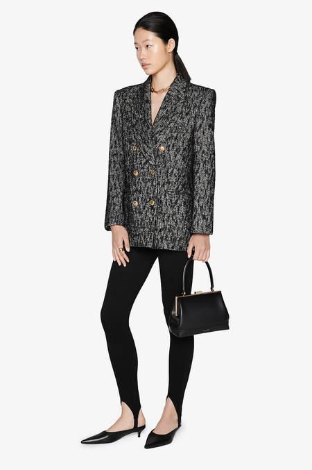 Anine Bing Dionne Blazer - Black Tweed