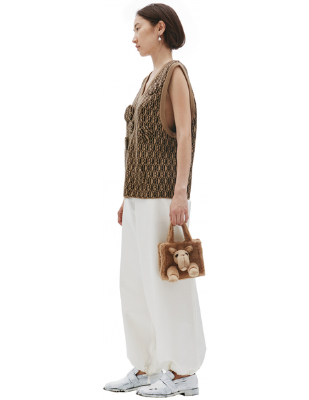 Doublet Knitted With Monogram DB Vest - Brown