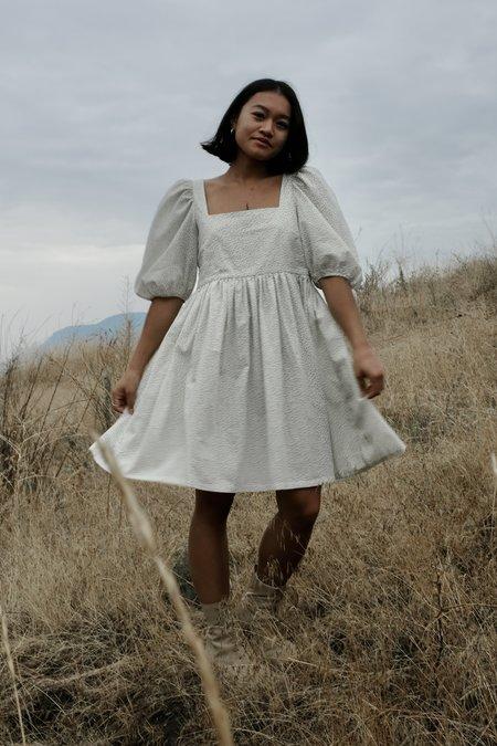 Bronze Age Manon Mini Puff Dress - Black Floral
