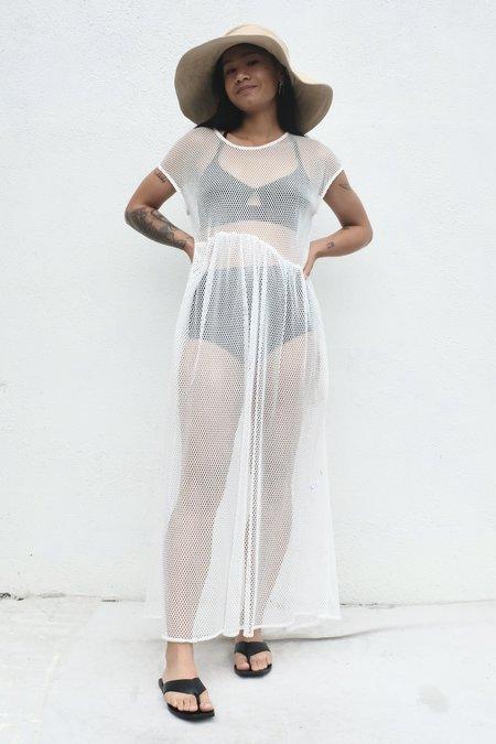 Et Tigre Rosario Long Dress - White Netting