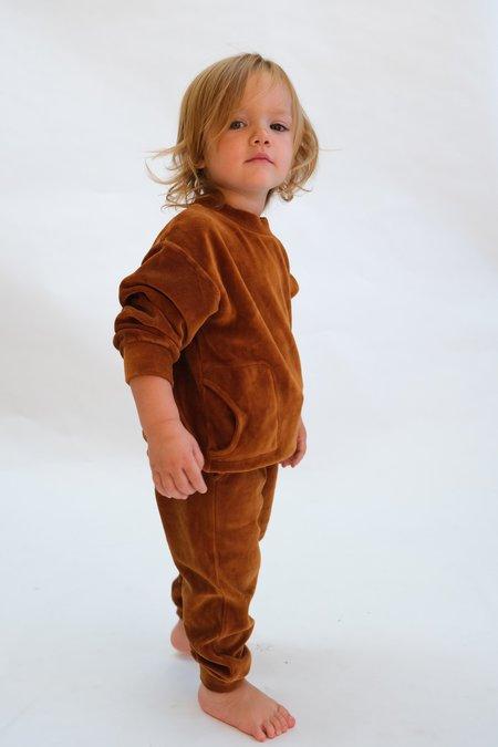 Kids My Little Cozmo Organic Velour Pullover - Caramel