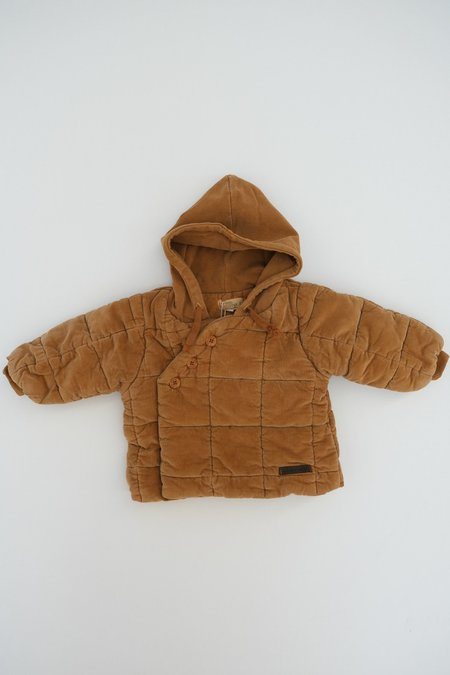 Kids My Little Cozmo Quilted Corduroy Baby Puffer - Caramel