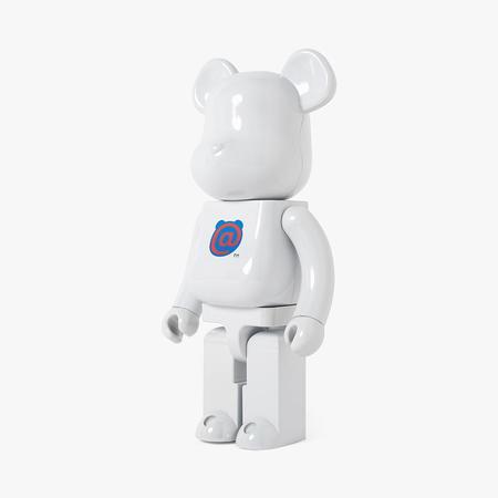 Medicom Toy BE@RBRICK 1st Model 1000% / White Chrome