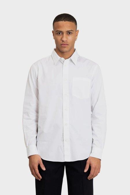 Norse Projects Algot poplin shirt  - white