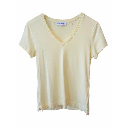White+Warren Cotton Modal V-Neck - Sunshine