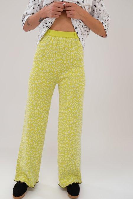 Alexandra Moura Word Trousers - Green