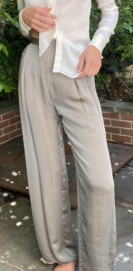 Vintage KC Bill Blass Sage Sheer Chiffon Pants - Gray