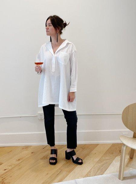 Jar Shirt in White by Henrik Vibskov