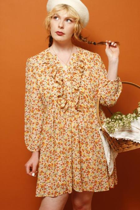 Dress Forum Miriam Floral Mini Dress - Desert