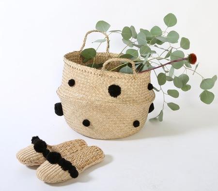 Black basket and slipper combo