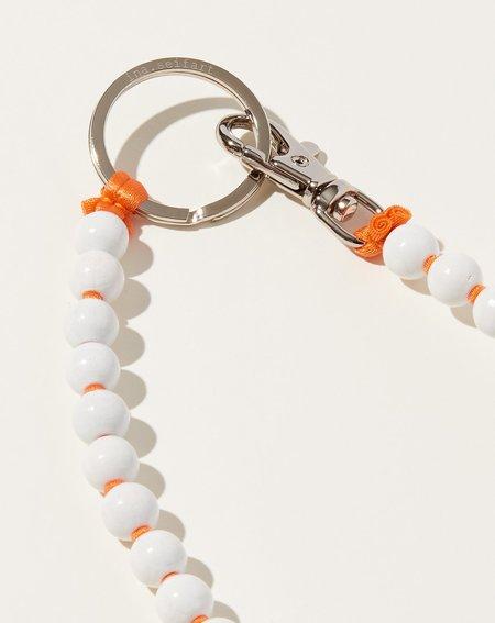 Ina Seifart Perlen Long Keyholder - White/Orange