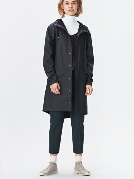 UNISEX Rains Long Jacket - Black