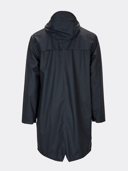 Unisex Rains Long Jacket - Navy Blue