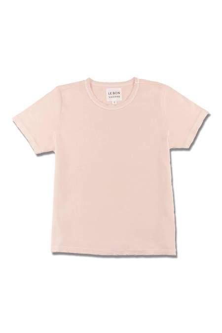 Le Bon Shoppe Organic Cotton Vintage Boy Tee - Ballet Pink