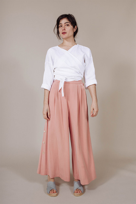 Mara Hoffman Button Side Culottes in Apricot