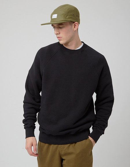 Bhode Raglan Crew Sweatshirt - Black