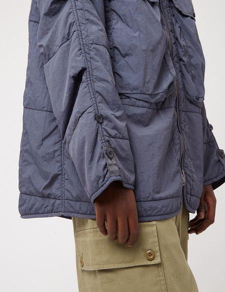 Nigel Cabourn Quilted Parka Jacket - Navy Blue