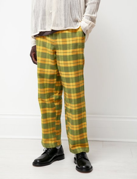 BODE Daytime Plaid Trousers - Yellow/Green