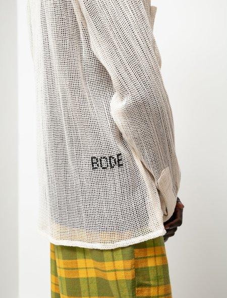 BODE Net LS Shirt - Ecru