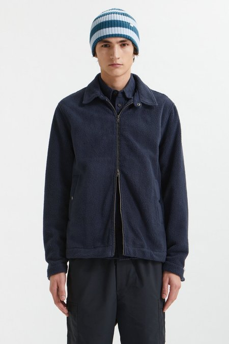 Wood Wood Alister Fleece Jacket - blue
